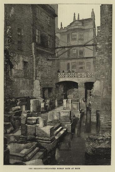 The Recently-Excavated Roman Bath at Bath--Giclee Print