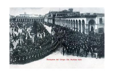 The Reception of Bishop Mariano Soler, Montevideo, Uruguay, C1900s--Giclee Print
