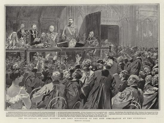 The Reception of Lord Roberts and Lord Kitchener by the City Corporation at the Guildhall-Frederic De Haenen-Giclee Print