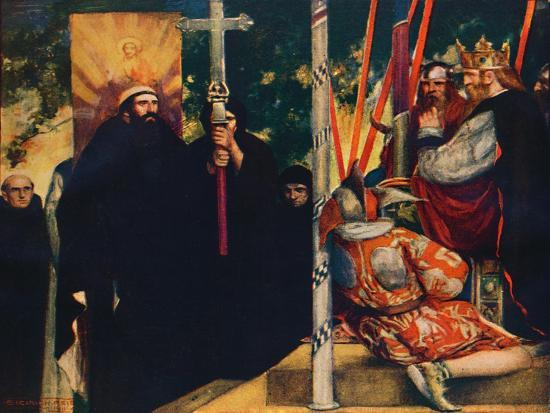 'The Reception of Saint Augustine by Ethelbert', 1912-Unknown-Giclee Print