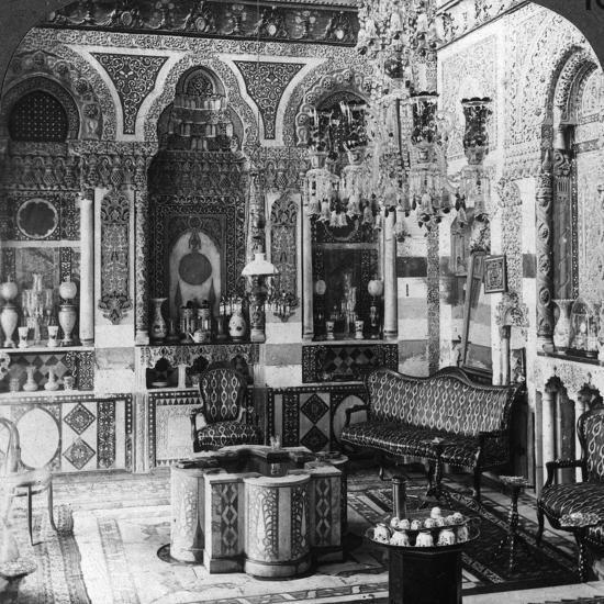 The Reception Room of a Pasha, Damascus, Syria, 1905-Underwood & Underwood-Photographic Print