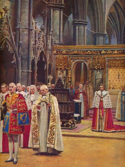 ''The Recognition: The King Stands Before the Assembly, presented by the Archbishop', 1937-Unknown-Giclee Print