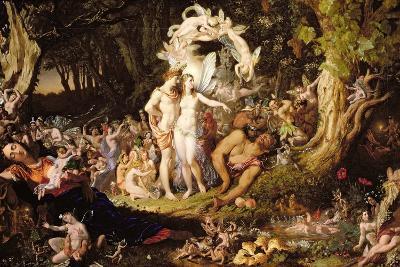 The Reconciliation of Oberon and Titania, 1847-Sir Joseph Noel Paton-Giclee Print