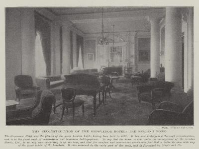The Reconstruction of the Grosvenor Hotel, the Reading Room--Giclee Print