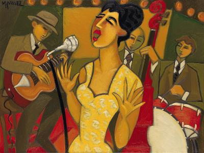 The Recording Session-Marsha Hammel-Giclee Print