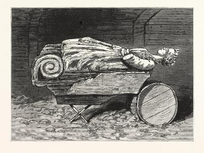 The Recovered Figure-Head of the Missing British Training-Ship Atalanta Sketched at St. Johns--Giclee Print