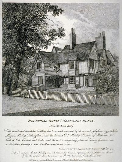 The Rector's House on Newington Butts in Southwark, London, 1795--Giclee Print