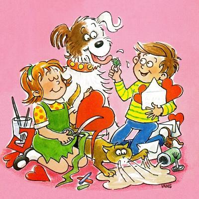 The Red and White Box - Jack & Jill-Jackie Lacy-Giclee Print