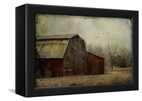 the Red Barn-Barbara Simmons-Framed Premier Image Canvas