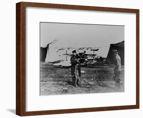 The Red Baron and His Dog-German photographer-Framed Giclee Print
