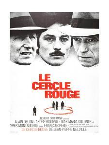 The Red Circle, (AKA Le Cercle Rouge), from Left: Andre Bourvil, Alain Delon, Yves Montand, 1970