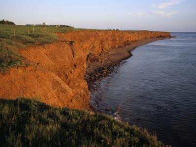 The Red Cliffs of Prince Edward Island at Sunset Glow, Prince Edward Island, Canada-Taylor S^ Kennedy-Photographic Print