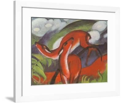 The Red Deer-Franz Marc-Framed Art Print
