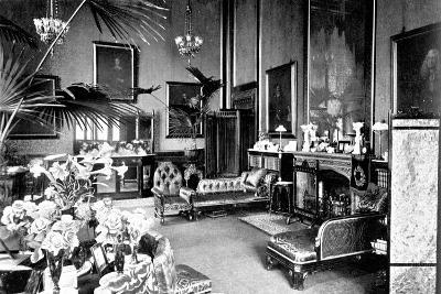 The Red Drawing Room in the Speaker's House, Palace of Westminster, London, C1905--Giclee Print