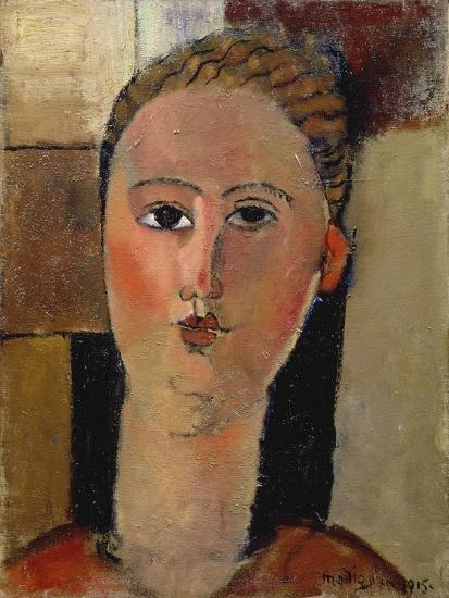 The Red Face, 1915-Amadeo Modigliani-Giclee Print