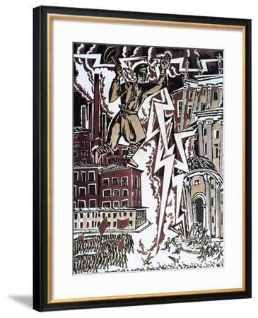 The Red Lightning, 1919-Ignaty Nivinsky-Framed Giclee Print