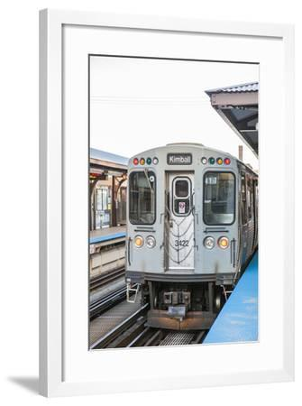 The Red Line Cta Pulling Out of the Merchandise Market Station-Richard Nowitz-Framed Photographic Print
