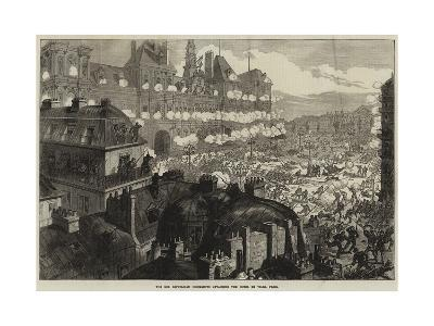 The Red Republican Insurgents Attacking the Hotel De Ville, Paris--Giclee Print