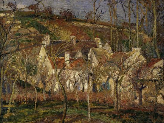 The Red Roofs, c.1877-Camille Pissarro-Giclee Print