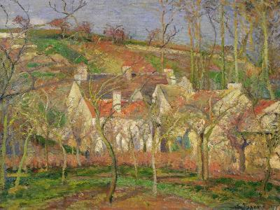 The Red Roofs, or Corner of a Village, Winter, 1877-Camille Pissarro-Giclee Print