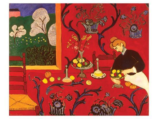 The Red Room-Henri Matisse-Art Print