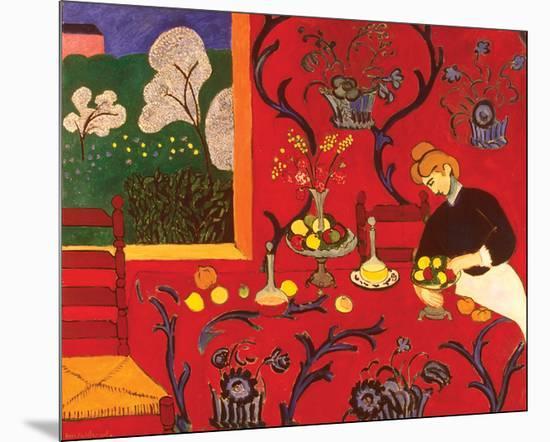 The Red Room-Henri Matisse-Mounted Art Print