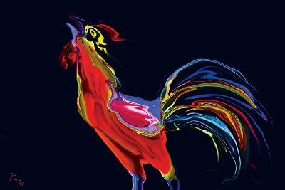 The Red Rooster-Rabi Khan-Art Print