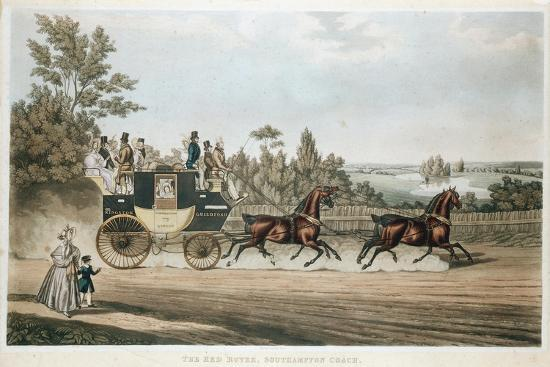 The Red Rover, Southampton Coach, C1815--Giclee Print