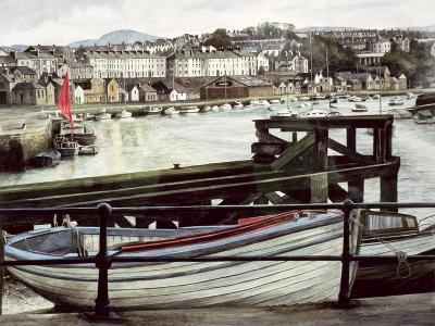 The Red Sail, Caernarfon-Jane Carpanini-Giclee Print
