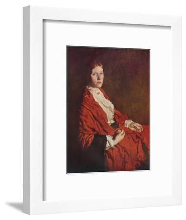'The Red Scarf', 1935-William Newenham Montague Orpen-Framed Giclee Print