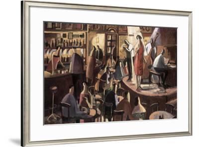 The Red Singer-Didier Lourenco-Framed Art Print