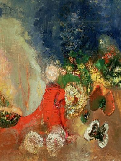 The Red Sphinx-Odilon Redon-Giclee Print