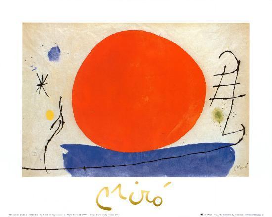 The Red Sun-Joan Miro-Art Print
