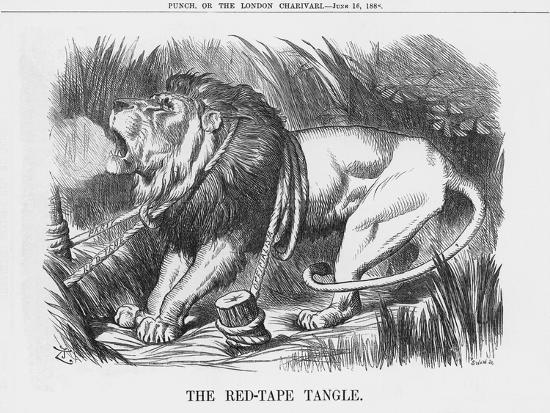 The Red-Tape Tangle, 1888-Joseph Swain-Giclee Print