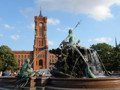 The Red Town Hall (Rotes Rathaus), Berlin, Germany--Photographic Print