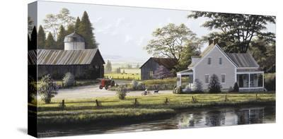 The Red Tractor-Bill Saunders-Stretched Canvas Print
