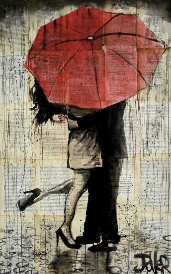 The Red Umbrella-Loui Jover-Art Print