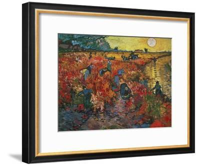 The Red Vineyard at Arles, c.1888-Vincent van Gogh-Framed Premium Giclee Print