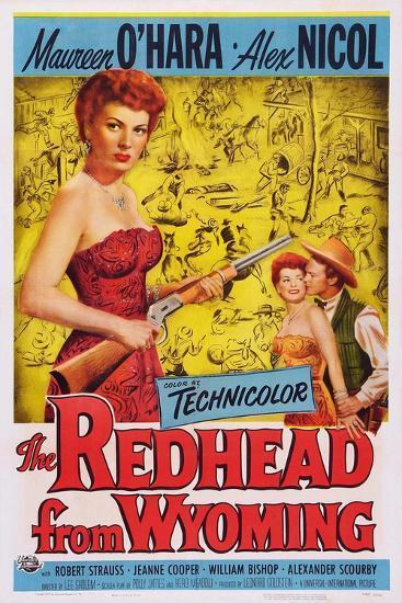The Redhead from Wyoming, Maureen O'Hara, Alex Nichol, 1953--Art Print