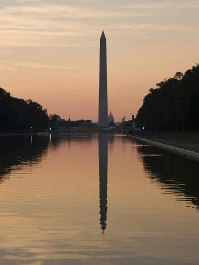 The Reflecting Pool on the National Mall, Washington DC, USA, District of Columbia-Lee Foster-Photographic Print