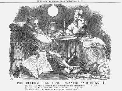 The Reform Bill, 1866, Frantic Excitement!!!, 1866-John Tenniel-Giclee Print
