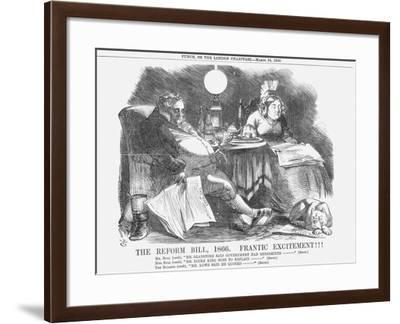 The Reform Bill, 1866, Frantic Excitement!!!, 1866-John Tenniel-Framed Giclee Print