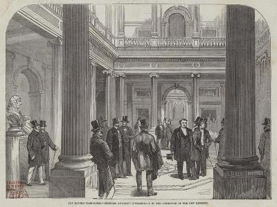 The Reform Club-House, Members Awaiting Intelligence of the Formation of the New Ministry--Giclee Print