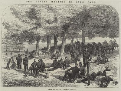 The Reform Meeting in Hyde Park--Giclee Print