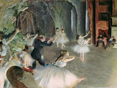 The Rehearsal of the Ballet on Stage, circa 1878-79-Edgar Degas-Giclee Print