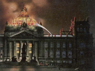 The Reichstag Destroyed by Fire--Photographic Print