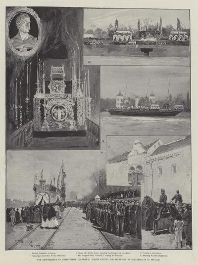 The Reinterment of Christopher Columbus, Scenes During the Reception of the Remains in Seville-Henry Charles Seppings Wright-Giclee Print