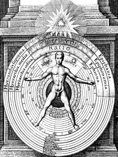 The Relation of Man, the Microcosm, with the Universe, the Macrocosm, C1617--Giclee Print