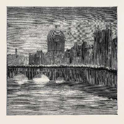 The Release of the Suspects: Torchlight Procession Crossing Grattan Bridge, Dublin, Ireland--Giclee Print