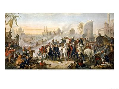 The Relief of Lucknow Where the Garrison and Residents Had Been Besieged by Sir Colin Campbell--Giclee Print